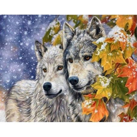 Картина по номерам Зима для волков (TN700), DIY