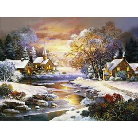 Пейзаж зимней ночи (FS340), DIY