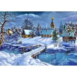 Пейзаж зимней сказки