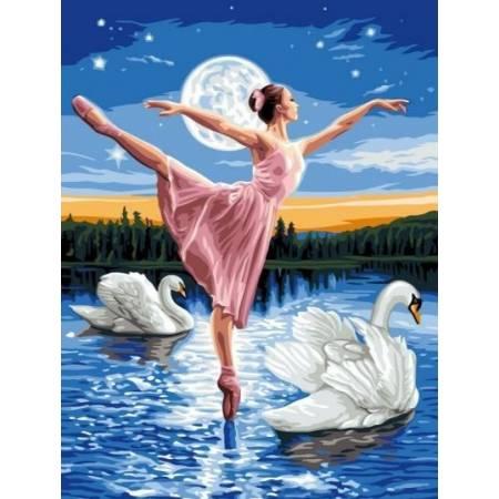 Балерина и лебеди