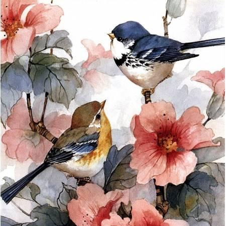 Акварельные птички (TN470), DIY