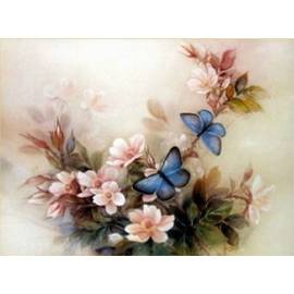 нежные цветы и бабочки
