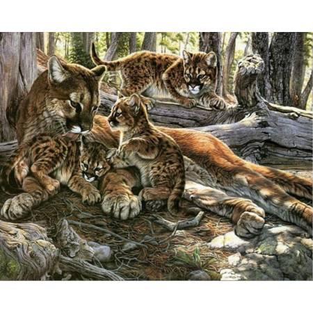 Леопард с детенышами (FS070), DIY