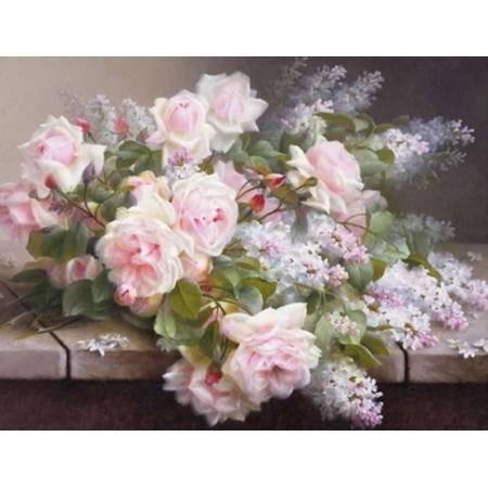 Картина по номерам Букет сирени с розами (FS118), DIY