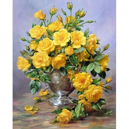 Букет из желтых роз (TN164), DIY