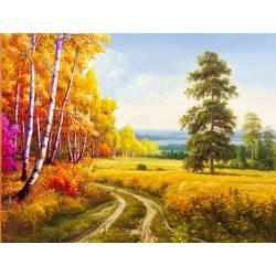 Набор алмазной вышивки - Осенняя дорога