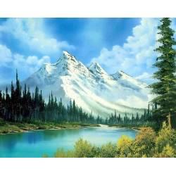 Алмазная вышивка - Горное озеро