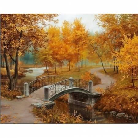 Картина по номерам Осенние краски TN008, DIY