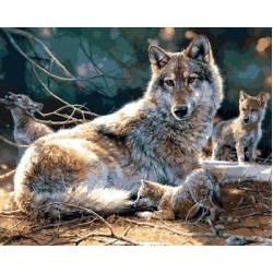 Мама волчица