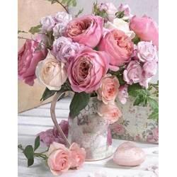 Нежный букет чайных роз