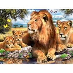Львиный прайд - на подрамнике