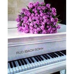 Цветы на рояле