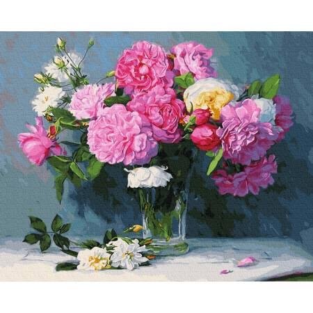 Картина по номерам Букет из розовых роз GX30338, Rainbow Art
