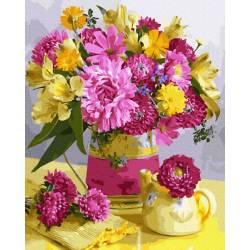 Хризантемы и одуванчики