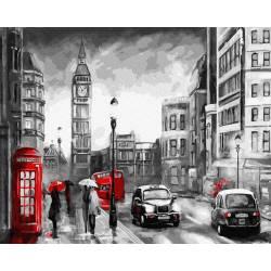 Дождь на улицах Лондона