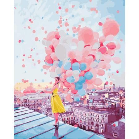 Картина по номерам Рассвет над крышами Парижа GX25364, Rainbow Art