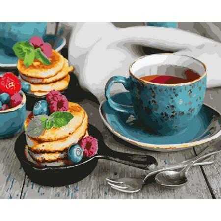 Картина по номерам Чай с оладушками  GX26494, Rainbow Art