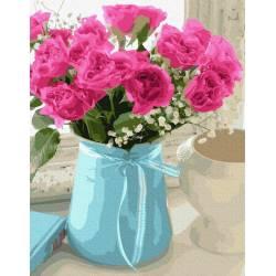 Букет в вазе чайных роз