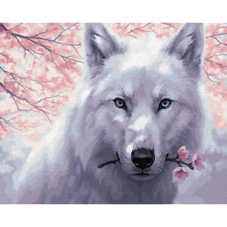 Картина по номерам Белый волк GX29952, Rainbow Art