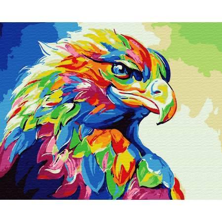 Картина по номерам Яркие краски орла  GX30901, Rainbow Art