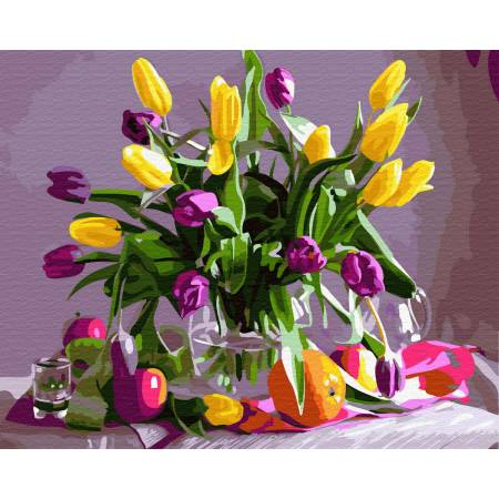 Картина по номерам Мартовские тюльпаны  GX32513, Rainbow Art