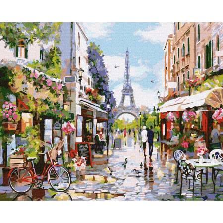 Картина по номерам Цветущий Париж GX32748, Rainbow Art