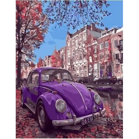 Картина по номерам Фиолетовый жук GX32848, Rainbow Art