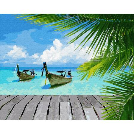 Картина по номерам Райское побережье  GX34092, Rainbow Art