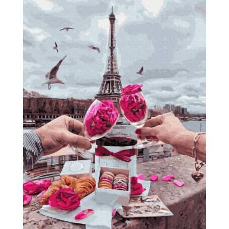 Картина по номерам Доброе утро в Париже Gx34598, Rainbow Art