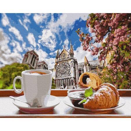 Картина по номерам Завтрак в Париже GX34639, Rainbow Art