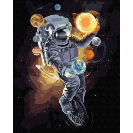Картина по номерам Космический жонглер GX34813, Rainbow Art