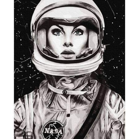 Картина по номерам Космонавтка GX35333, Rainbow Art
