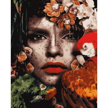 Картина по номерам Взгляд амазонки GX35631, Rainbow Art