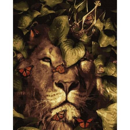 Картина по номерам Собранность царя зверей GX35640, Rainbow Art