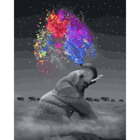 Картина по номерам Игривый слон GX36046, Rainbow Art