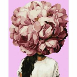 Цветочное головокружение премиум, цветной холст
