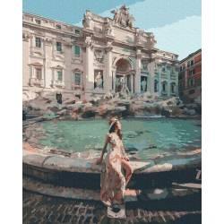 Девушка у фонтана Треви