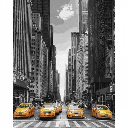 Картина по номерам Такси в Нью-Йорке GX9386, Rainbow Art