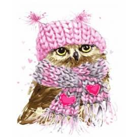 Совенок в шарфе