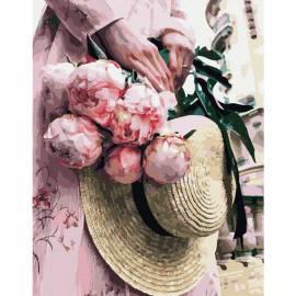 Романтическая прогулка премиум, цветной холст
