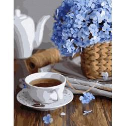 Чашечка весны премиум, цветной холст