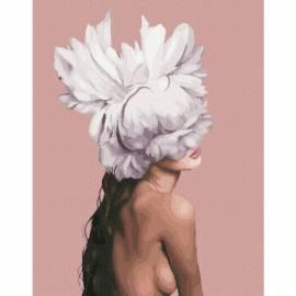 Она - цветок премиум, цветной холст