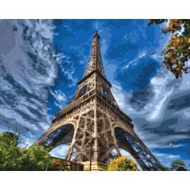 Пейзаж Эйфелева башня