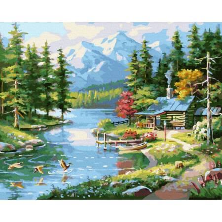Картина по номерам Красота горного пейзажа GX37768, Rainbow Art