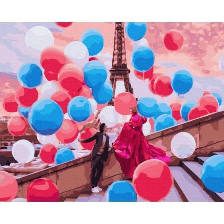 Картина по номерам Воздушный Париж GX37800, Rainbow Art