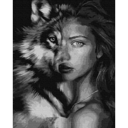 Картина по номерам Взгляд волчицы  GX39222, Rainbow Art