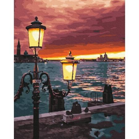 Картина по номерам Фонари Венеции  GX39253, Rainbow Art