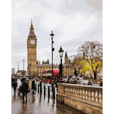 Картина по номерам Непогода в Лондоне  GX39258, Rainbow Art