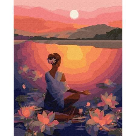 Картина по номерам Медитация на закате  GX39307, Rainbow Art