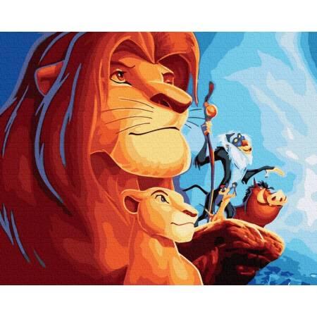Картина по номерам Король Лев 2 GX39315, Rainbow Art